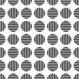 Teste padrão geométrico pontilhado dos seamles Cirlces listrados - fundo infinito ilustração stock