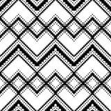 Teste padrão geométrico preto e branco Fotografia de Stock