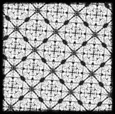 teste padrão geométrico preto e branco do drawnd da mão Foto de Stock Royalty Free