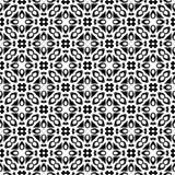 Teste padrão geométrico preto e branco sem emenda ilustração do vetor