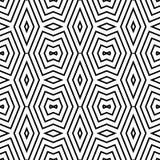 Teste padrão geométrico preto e branco sem emenda Fotografia de Stock