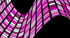Teste padrão geométrico quadrado abstrato com ondas Estrutural listrado ilustração stock