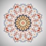 Teste padrão geométrico redondo decorativo no estilo asteca Imagens de Stock