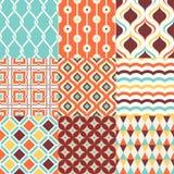 Teste padrão geométrico sem emenda à moda retro do coxim do sumário colorido ilustração stock