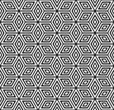 Teste padrão geométrico sem emenda. ilustração royalty free