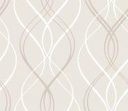Teste padrão geométrico sem emenda abstrato com linha ondulada Imagens de Stock Royalty Free