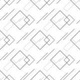 Teste padrão geométrico sem emenda abstrato com quadrados ilustração stock