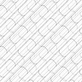 Teste padrão geométrico sem emenda abstrato com quadrados ilustração do vetor