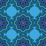 teste padrão geométrico sem emenda azul Imagem de Stock Royalty Free