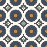 Teste padrão geométrico sem emenda com círculos azuis Imagens de Stock