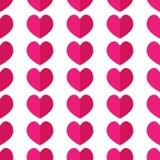 Teste padrão geométrico sem emenda com corações ilustração stock