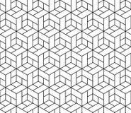 Teste padrão geométrico sem emenda com cubos. ilustração do vetor