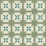 Teste padrão geométrico sem emenda com flores e quadrados Imagens de Stock Royalty Free