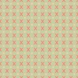 Teste padrão geométrico sem emenda com X modelado no fundo verde Fotografia de Stock Royalty Free