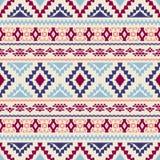 Teste padrão geométrico sem emenda com motivos tribais Imagens de Stock