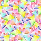 Teste padrão geométrico sem emenda com triângulos brilhantes Fotografia de Stock Royalty Free
