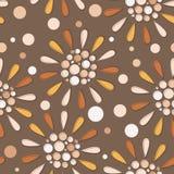 Teste padrão geométrico sem emenda das folhas e das bagas de outono ilustração do vetor