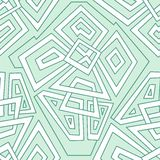 Teste padrão geométrico sem emenda detalhado em pálido - tons verdes Teste padrão geométrico colorido Teste padrão sem emenda, fu ilustração stock