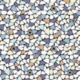 Teste padrão geométrico sem emenda do mosaico aleatório Foto de Stock Royalty Free
