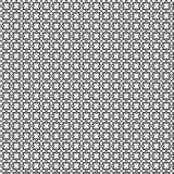Teste padrão geométrico sem emenda do vetor abstrato preto e branco Fotografia de Stock Royalty Free