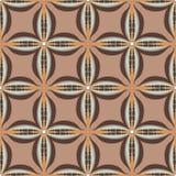 Teste padrão geométrico sem emenda do vetor no estilo retro ilustração royalty free