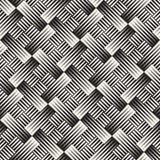 Teste padrão geométrico sem emenda do vetor Ornamento telhado regular Fundo transversal do sumário de Tilig Mosaico de intervalo  Fotos de Stock Royalty Free