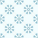 Teste padrão geométrico sem emenda dos flocos de neve ilustração do vetor