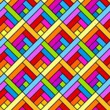 Teste padrão geométrico sem emenda dos quadrados diagonais coloridos Fotografia de Stock