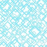 Teste padrão geométrico sem emenda em cores azuis e brancas Imagens de Stock Royalty Free