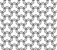 Teste padrão geométrico sem emenda em linhas geométricas preto e branco Imagem de Stock
