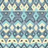 Teste padrão geométrico sem emenda Motivos do bordado handmade Vetor Imagens de Stock Royalty Free