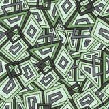 Teste padrão geométrico sem emenda na obscuridade - tons verdes khaki Para a matéria têxtil da forma, pano, fundos Teste padrão s Foto de Stock Royalty Free