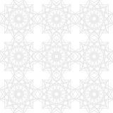 Teste padrão geométrico sem emenda na prata e nas cores brancas Fundo abstrato intrincado Fotos de Stock Royalty Free