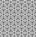 Teste padrão geométrico sem emenda no estilo Kumiko Imagem de Stock