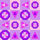 Teste padrão geométrico sem emenda original Cor-de-rosa Imagem de Stock Royalty Free