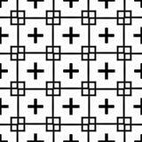 Teste padrão geométrico sem emenda preto e branco foto de stock royalty free