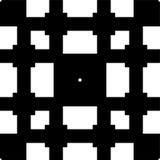 Teste padrão geométrico sem emenda preto e branco fotos de stock