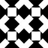 Teste padrão geométrico sem emenda preto e branco fotografia de stock royalty free