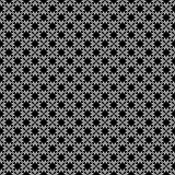 Teste padrão geométrico sem emenda preto e branco fotografia de stock