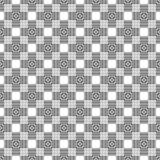 Teste padrão geométrico sem emenda preto e branco imagem de stock royalty free