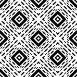 Teste padrão geométrico sem emenda preto e branco bonito Fotos de Stock Royalty Free