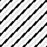 Teste padrão geométrico sem emenda preto e branco Textura repetível ilustração royalty free