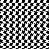 Teste padrão geométrico sem emenda preto e branco Textura repetível/ ilustração stock