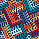Teste padrão geométrico sem emenda tirado mão Imagens de Stock
