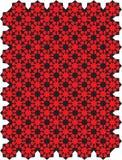 Teste padrão geométrico vermelho ilustração stock