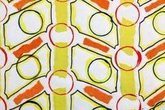 Teste padrão geométrico vermelho e amarelo Fotografia de Stock