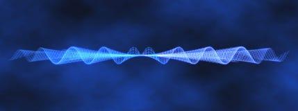 Teste padrão gerado por computador da onda azul da voz Ilustração Royalty Free