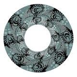 teste padrão gráfico circular Imagens de Stock
