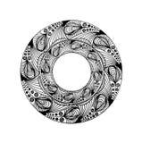 teste padrão gráfico circular Imagem de Stock