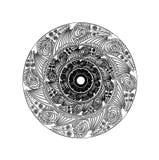 teste padrão gráfico circular Imagens de Stock Royalty Free